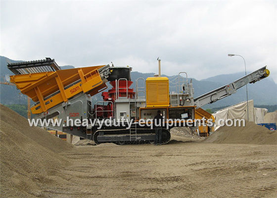 चीन Mobile impact Crusher / Stone Crusher Machine with Two Spindle Car Body आपूर्तिकर्ता